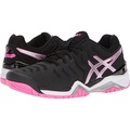 ASICS Womens Gel-Resolution 7 Tennis-Shoes, Black/Silver/Hot Pink