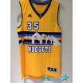 奇星 OUTLET Adidas NBA球衣 kenneth Faried 35 丹佛金塊 黃彩虹 #A46024