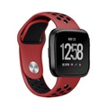 Pawaca Fitbit Versa Strap Bands,[Dual Colour]Silicone Adjustable Replacement Sport Wrist Band Breath