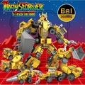 高積木 KY8070 開智 6合1 變形金剛 工程車系列 挖土機 推土機 吊車 水泥車 相容樂高LEGO 樂拼