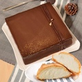 【艾波索】巧克力黑金磚方形6吋+千層冰心泡芙5入(蘋果日報評比冠軍蛋糕)