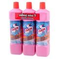 เป็ดมิสเตอร์มัสเซิลผลิตภัณฑ์ทำความสะอาดห้องน้ำสีชมพู 900มล. แพค 2แถม1