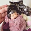 宜家 情侶女生節日禮物可愛大耳兔睡萌娃娃包包掛件睡寶寶baby掛飾飾品