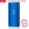 NUBULA For Samsung Galaxy A8 Star Flip Case,360 Degree Luxury Mirror Clamshell Hard Shell Case Smart Clear View Flip Cover For Samsung Galaxy A8 Star / A9 Star