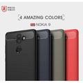 商務 碳纖維拉絲紋 諾基亞 Nokia 9 手機殼 Nokia2 防摔 諾基亞9 保護殼 諾基亞2 軟殼 超薄 矽膠套