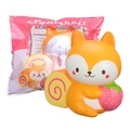 Puni Maru Squishy Licensed Squirroll Squirrel Cake Swiss Roll Bakery Cuties 14CM Slow Rising With Packaging