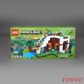 vovoc兒童玩具滿299出貨LEGO樂高積木 21134 我的世界 瀑布基地兒童拼裝玩具男孩子