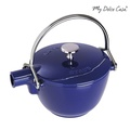 Staub 圓形鑄鐵水壺 茶壺 1.15L 深藍 法國製[IFJ04]