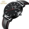 KINYUED金悅達 時尚皮帶石英手錶男女同款情侶手錶