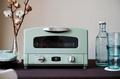 日本Sengoku Aladdin 千石阿拉丁「專利0.2秒瞬熱」4枚焼復古多用途烤箱(附烤盤) AET-G13T-湖水綠