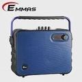 EMMAS 移動式藍芽喇叭/教學無線麥克風 (T-68)藍色