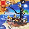 啟蒙積木 306 海盜破船塢積木 約178片/一盒入{促400} 可和樂高一起組合-鑫