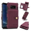 Brushed Finish Vintage Wallet Card Slots Protective Case For Samsung Galaxy S8/S8 Plus