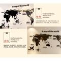 現貨世界地圖壁貼 立體牆貼 3D壓克力 辦公室勵志沙發背景大面積玄關 房間裝飾 居家裝飾壁貼 復古世界地圖