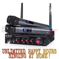 Quality Karaoke UHF Wireless Microphones Popsical Supported