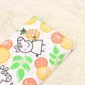 【外貿半米價】新鮮水果佩佩豬平紋棉布 卡通布料 純棉布