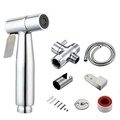 Gecious Stainless Steel Hand Held Bidet Sprayer Complete Set Hand Sprayer for Bidet Toilet with Adjustable Water Pressure Control, Nickel finished (Spray Bidet Set) - intl