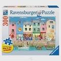【德國Ravensburger拼圖】靠海的可愛城鎮-大拼片拼圖-300片