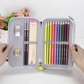 新款防水美術鉛筆筆簾36/48/72色素描插筆袋彩色鉛筆袋盒文具袋