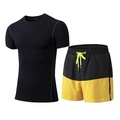 Compression Fitness Tights Set Quick Dry Sportswear Costume Gym Tshirt Shorts Tracksuit For Men Sport Suit Running - intl
