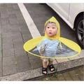 傘帽日韓防雨兒童創意雨帽 飛碟傘無柄雨帽子雨衣雨披釣魚傘學生