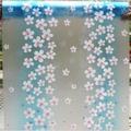 สติ๊กเกอร์ฝ้าติดกระจก แบบมีกาวในตัว ลีลาวดี สีฟ้า (หน้ากว้าง 90cmx500cm)