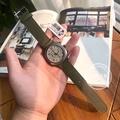 全新正品 briston 法國時尚運動手錶 Clubmaster Classic 槍灰色錶盤 配 刷毛灰綠色錶帶