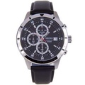 Seiko Quartz Chronograph 100m Date 100% Authentic Black Dial Analog Gents Casual Watch SKS571P1 SKS571P SKS571 w/ Warranty