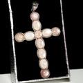 【喨喨飾品】 十字架純銀鑲邊墜 純銀飾品 M333