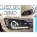JY MOTOR 車身套件~LEXUS IS200 IS300 1998-2005年 晶鑽 燻黑 燈眉 光圈 魚眼大燈