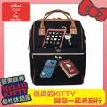 【真愛日本】16041400006聯名寬口後背包-生活雜貨藍   KITTY 凱蒂貓 三麗鷗 寬口後背包 包包 手提包