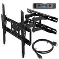 """Everstone TV Wall Mount Fit for Most 23""""-65"""" TVs Dual Articulating Arm Full Motion Tilt Swivel Bracket 14"""" Extension Arm,LED,LCD,OLED& Plasma Flat Screen TV,Curved TV,Up to VESA 400mm,HDMI cable"""