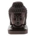 BolehDeals Wooden Buddist Head Statue Figurine India Buddha Head Statue Craft Ornament