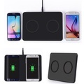 Double Qi Wireless Charger Pad Transmitter Charging Station for iPhone 8 X Samsung Galaxy S8 S8+