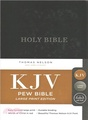 Holy Bible ― King James Version, Black, Red Letter Edition, Pew Bible