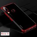For Huawei Nova 3i Case Clear Luxury Laser Plating Transparent Soft Back Cover for Huawei Nova 3i Phone Case