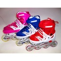 新款可調式直排輪-促銷-特賣-(閃光輪)可調整尺寸(1次用4年)兒童直排輪-溜冰鞋