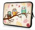 """Colorfulbags Cute Owl Design Girls Boys New 11.6"""" 12"""" 12.1"""" inch scratch-proof Laptop Notebook Soft Sleeve Case Bag Pouch Cover For HP Envy x2 11.6"""",HP Pavilion dm1 Samsung ATIV XE500T1C XE700T1C / Acer Aspire One,Apple Macbook Air ASUS VivoBook X202E Dell TOSHIBA IBM Lenovo ThinkPad X220 X220i Hot PS12-200"""