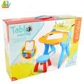 【Playful Toys 頑玩具】大畫板桌附椅子8815(兒童書桌 兒童繪圖桌 兒童白板桌 多功能兒童桌椅組)