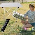 新款超輕鋁合金折疊便攜桌野餐桌燒烤桌戶外野營矮桌茶桌全鋁加強 3C生活館
