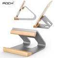 ROCK Universal Wooden Aluminum Alloy Metal Desktop Mount Holder for Xiaomi Samsung iPhone Tablet