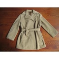 SISLEY義大利製深駝色羊毛短大衣