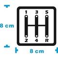 【豆豆彩藝】5速手排 5MT 簍空防水貼紙 (GOLF E30 C2 K6 K8 Mini DS3 86 March)