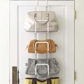 【YAMAZAKI】創意包包收納架-白★門後掛架/門後掛勾/掛衣架/包包架