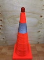 【八八八】e網購~優惠組合【50公分伸縮三角錐+LED警示燈】NO135路錐反光錐汽車安全警示路障三角錐交通錐