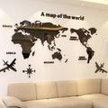 【現貨】C-世界地圖 3D立體壓克力壁貼 辦公室/客廳/ 壓克力貼紙裝飾 電視牆 3d 立體 水晶 壓克力 壁貼