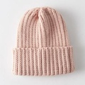 毛帽/毛線帽純色冰島學生騎車保暖針織『聖誕節交換禮物』