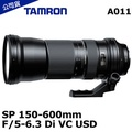 TAMRON SP 150-600mm F/5-6.3 Di VC USD A011 (公司貨)