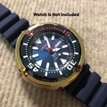 Aftermarket Gold Shroud For Seiko Prospex 200m Diver Scallop