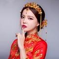 出租禮服新娘敬酒服修身顯瘦中國風禮服宴會婚禮洋裝小禮服晚宴